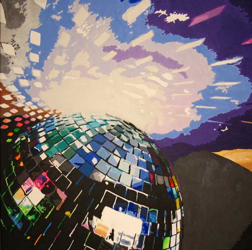 DISCO contemporary painting - Artist Danni Jacques
